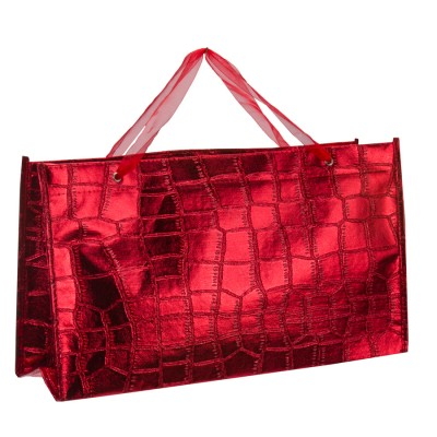 10x SAC RECT. CROCO ROUGE N°2