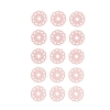 10x 15 RONDS DENTELLE ROSES A COLLER