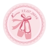 "STICKERS P.""BALLERINE RONDE ROSE"" 40PCS PN"