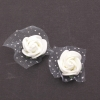 10x 6 ROSES BLANCHES AUTOCOLLANTES