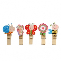 6x 10 CLIPS ANIMAUX 5ASS 2H4CM