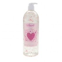 6x 83101 GEL BAIN & DOUCHE TRANSPARENT COEUR ROSE AROME ROSE 1000ML