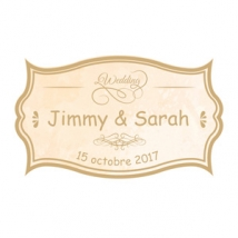 "STICKERS P.""VINTAGE BEIGE WEDDING""40PCS PN 4X24CM"
